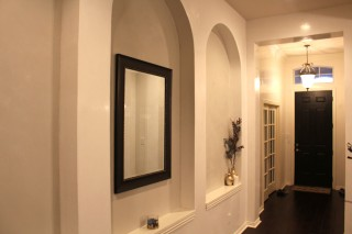 White Venetian Plaster Entry Way Hallway