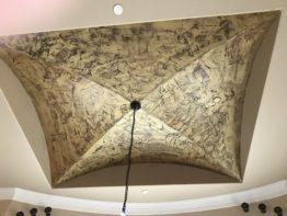 Ceiling Accent Wall Paint - Faux Metallic Gold - Dallas, Frisco, Plano, McKinney, Allen, Prosper TX