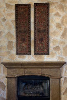 Faux Texture Stone Paint, Glaze Stone Fireplace - Dallas, Frisco, Plano, McKinney, Allen, Prosper TX
