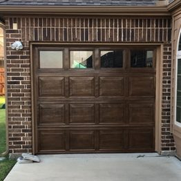 Garage Door Paint, Faux Wood - Dallas, Frisco, Plano, McKinney, Allen, Prosper TX