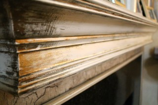 Refinished Fireplace Wood - Aged Antique Metallics