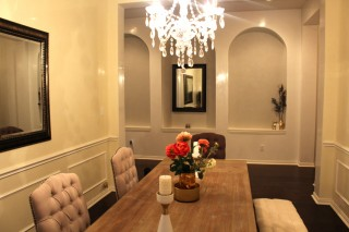 Venetian Plaster Dining Room and Hallway