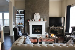 Fireplace Accent Wall – Contemporary Finish
