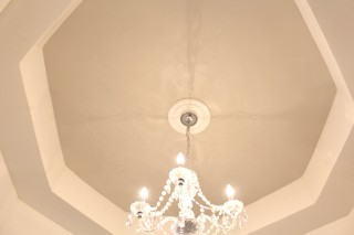 Ceiling Tray Accent with Venetian and Quartz Stone Paint