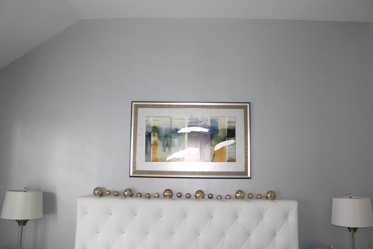Silver Amp Blue Metallic Paint On Accent Wall Frisco Faux