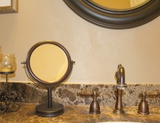 Brown Quartz Stone Paint Bathroom