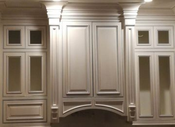Cabinet Glazing, Antique Paint Cabinets, White, Cream Cabinet Paint - Dallas, Frisco, Plano, McKinney, Allen, Prosper TX ftrd