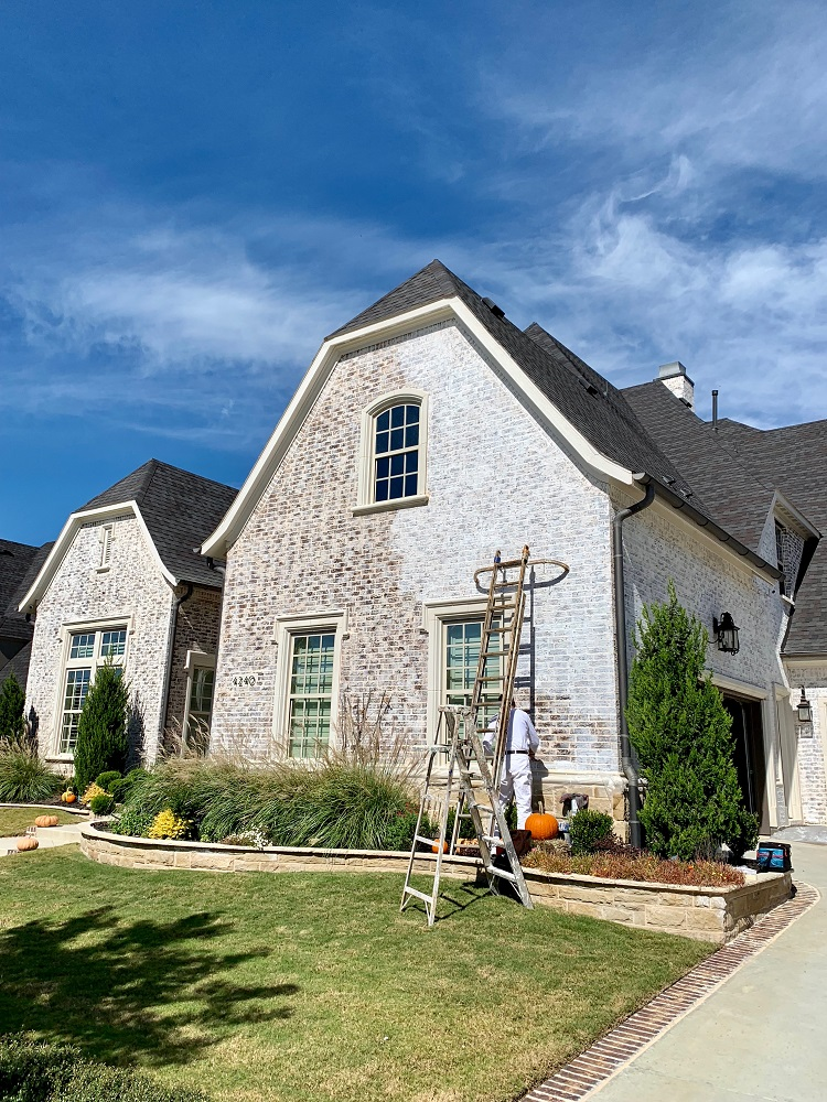 Whitewashing Brick, Brick Paint - Dallas, Frisco, Plano, McKinney, Allen, Prosper TX